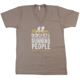 GOSHEN Running People V-Neck Cinder Organic