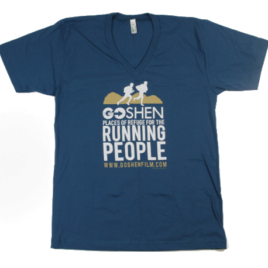 GOSHEN Running People V-Neck Galaxy Organic