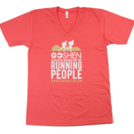 GOSHEN Running People V-Neck Pomegranate Organic