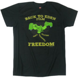 Back to Eden – Freedom Tee Black 100% Cotton